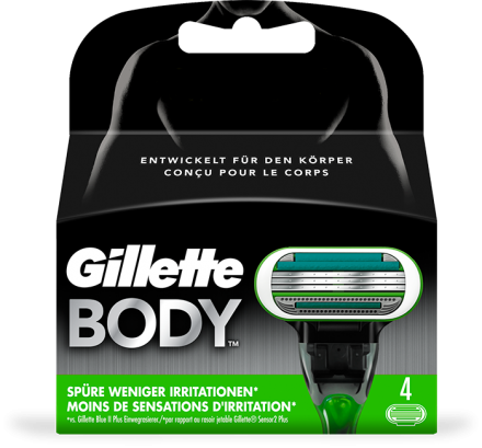Gillette Body Systemklingen 4er Pack