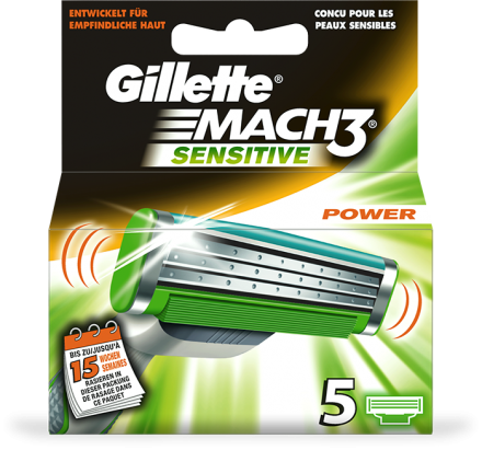 Gillette MACH3 Sensitive Power 5er Klingen