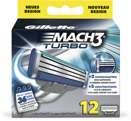 Gillette MACH3 Turbo 12er Klingen