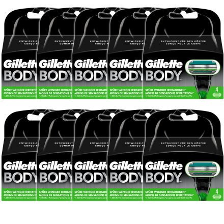 Gillette Body Systemklingen 4er Pack x 10