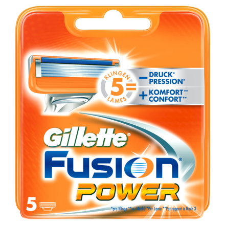 Gillette Fusion Power Systemklingen 5er